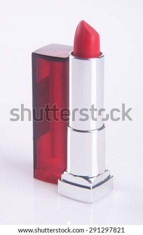 lipstick or red lipstick on a Background - stock photo