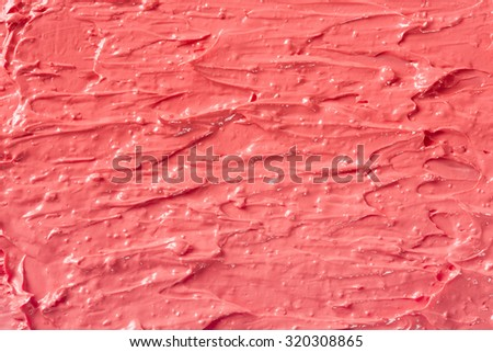 Lipstick red coral mash, color texture background