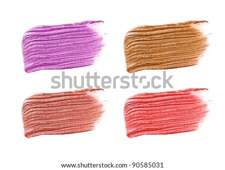 lipstick samples - stock photo