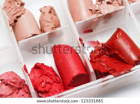 lipstick samples palette - stock photo