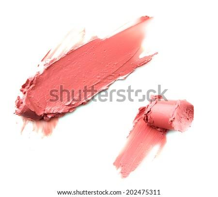 lipstick smear - stock photo