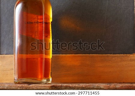 Liqour bottle and represent the liquor and alcohol beverage background concept related idea. - stock photo