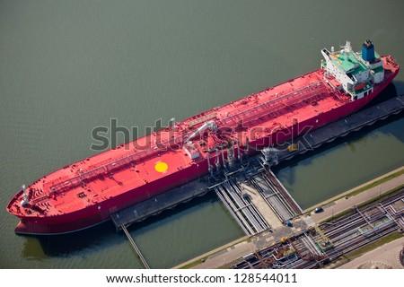 Liquid bulk ship - stock photo
