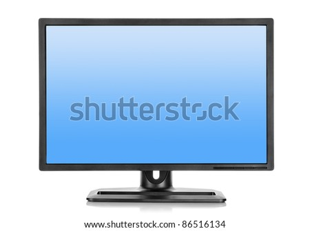 Liquid-crystal display isolated on a white background - stock photo