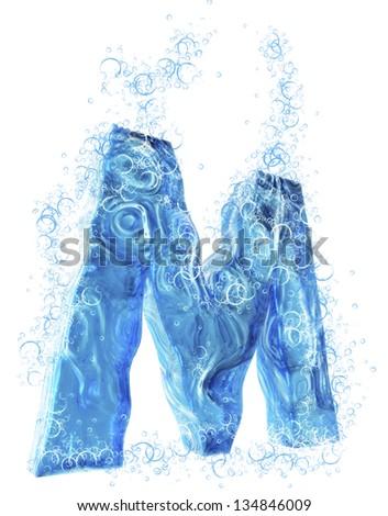 Liquid 3D Letter - stock photo