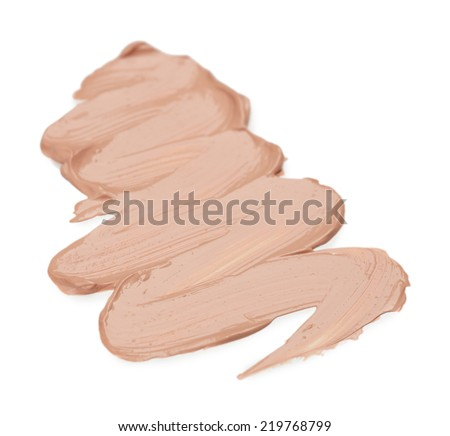 Liquid foundation isolated on white