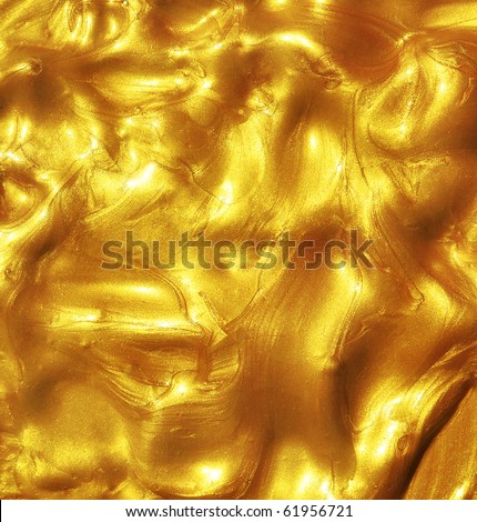 Liquid golden texture. - stock photo