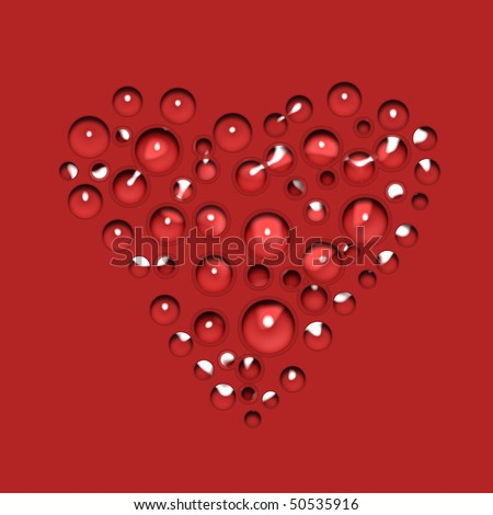 liquid heart - stock photo