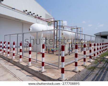 liquid petroleum gas station - stock photo