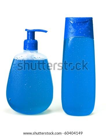 liquid soap, gel, shampoo - stock photo