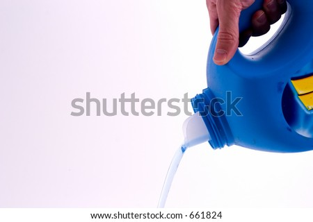 liquid soap pouring out - stock photo