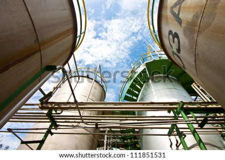 liquid tanks in tetrochemical plant
