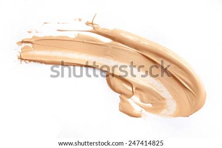 Liquid tone foundation isolated on white background - stock photo