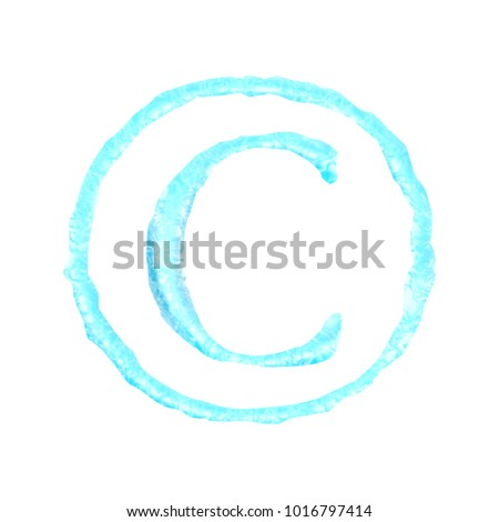 Liquid Water Style Copyright Symbol C Stock Illustration 1016797414