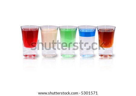 Liquor Shots - stock photo