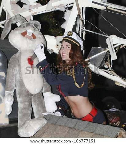 Lisa Cash  at 'Playboy Mansion Halloween Party'. Playboy Mansion, Holmby Hills, CA. 10-25-08