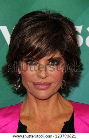 "Lisa Rinna at NBC Universal's ""2013 Winter TCA Tour,"" Langham Hotel, Pasadena, CA 01-06-13 - stock photo"