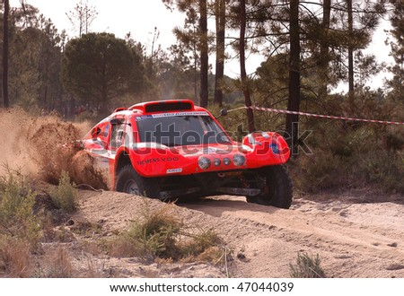 LISBOA, PORTUGAL - JANUARY 6: An unidentified competitor participates in the Raly Lisboa-Dakar on January 6, 2007 in Lisboa, Portugal.