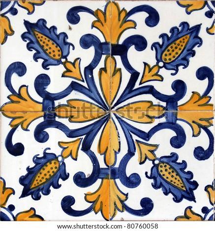 Lisbon azulejo - stock photo