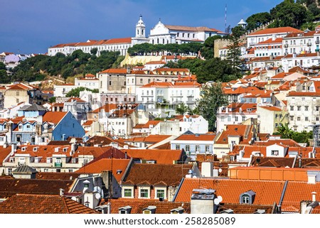 Lisbon city, Portugal, panoramic view