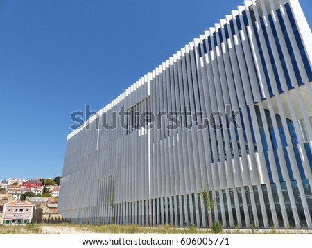 Lisbon / Modern architecture / picture showing a stunning piece of architecture in Lisbon, EDP Headquarters. Taken in August 2016.