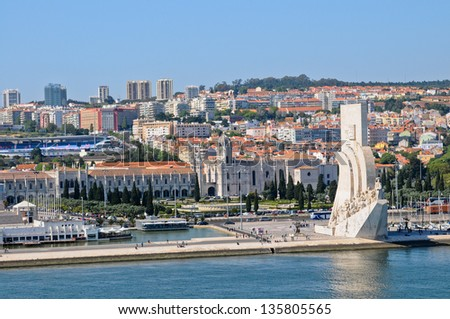 Lisbon panorama, Portugal - stock photo