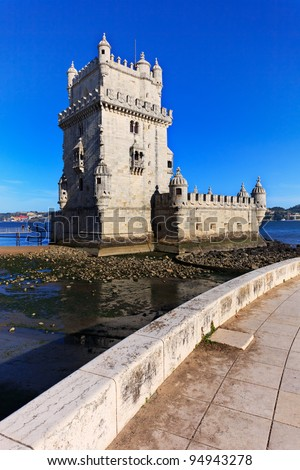 Lisbon, Portugal: Belem Tower. Unesco World Heritage Site.