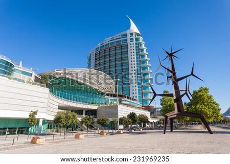 LISBON, PORTUGAL - JULY 16: Vasco De Gama Shopping Mall on July 16, 2014 in Lisbon, Portugal - stock photo