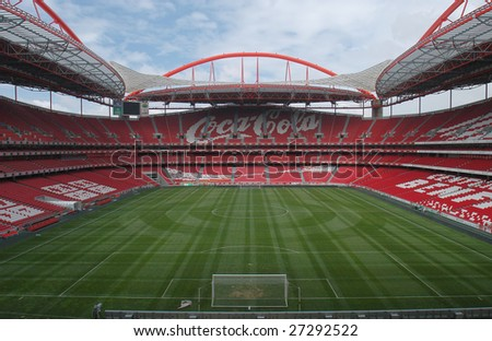 LISBON, PORTUGAL - JUNE 28 : Stadium and Sport Lisbon e Benfica June 28, 2008 in Lisbon, Portugal. The stadium was rebuilt in 2003 for the UEFA EURO 2004 with a total capacity of 65,127 spectators.