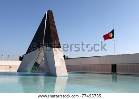 LISBON, PORTUGAL - MARCH 30: Memorial to the Portuguese soldiers fallen in Africa in Lisbon, Portugal at March 30, 2011. It commemorates soldiers in the Portuguese Colonial War between 1961 and 1974.