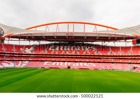 LISBON, PORTUGAL - OCT 17, 2016: Estadio da Luz (Stadium of Light), home stadium for the S.L. Benfica. It was built for the EURO 2004