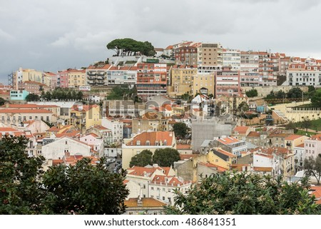 LISBON, PORTUGAL - OCTOBER 27, 2015: Cityscape of Lisbon