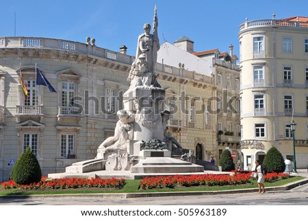 LISBON, PORTUGAL - OCTOBER 02, 2012: Monument to the fallen in the Great War, in the Liberdade Avenue