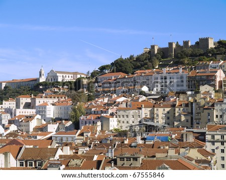 Lisbon view,  city on the Tagus River and a jewel of art, built on hills, also because of the capital of Portugal