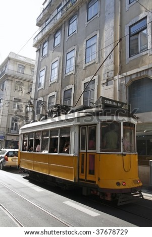 Lissabon tram 28 - stock photo
