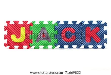 Join us sign written with alphabet puzzle letters isolated on white background