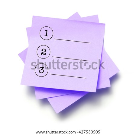 List written on a note - stock photo