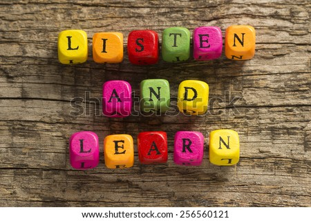 Listen and Learn - stock photo
