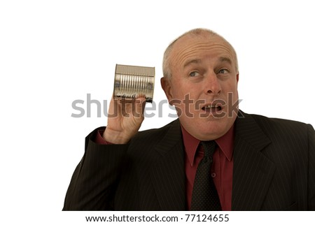 Listen carefully - stock photo