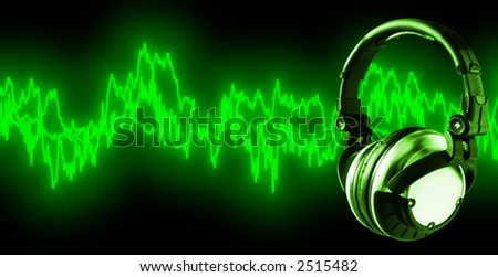 Listen To Music (+clipping path for easy placing your text behind the object if needed)