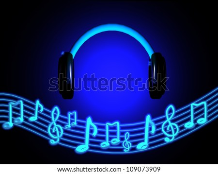 Listen to the Music - stock photo