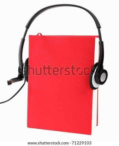 Listening to Audio Books ( Audio-book Concept ) - stock photo