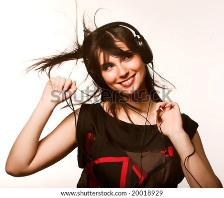 Listening to Music - stock photo