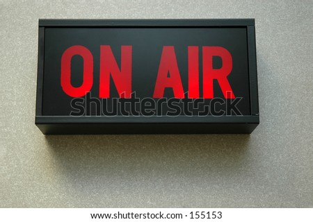 lit on air sign - stock photo