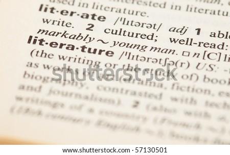 literature - stock photo