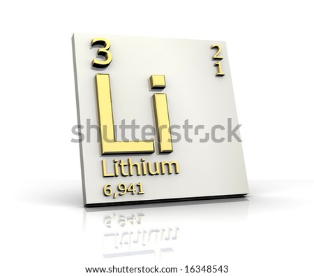 Lithium form Periodic Table of Elements - stock photo