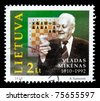 LITHUANIA - CIRCA 2010: The stamp printed in Lithuania shows Vladas Mykenas, circa 2010 - stock photo