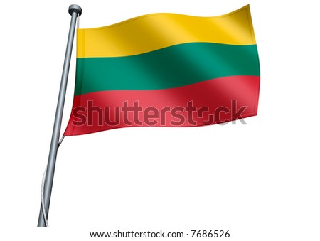 Lithuania Flag - stock photo