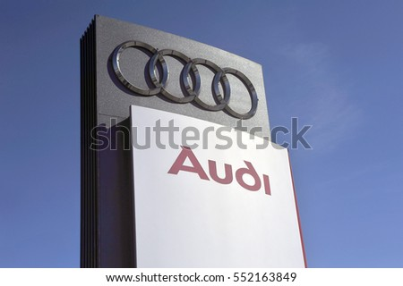 LITHUANIA - JUNE 01:AUDI logo on June 01, 2015in Lithuania