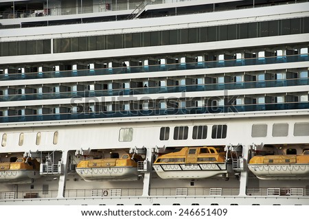 LITHUANIA- MAY 30:cruise liner  on May 30,2012 in Lithuania.Costa Pacifica is a Concordia-class cruise ship for Costa Crociere. She was handed over to Costa Crociere in 29 May 2009. - stock photo